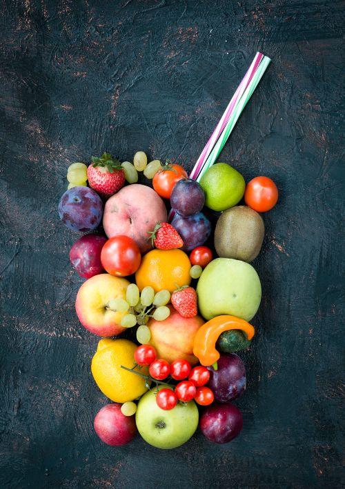 glass of fresh fruit