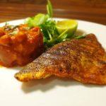 Indian spiced sea bream